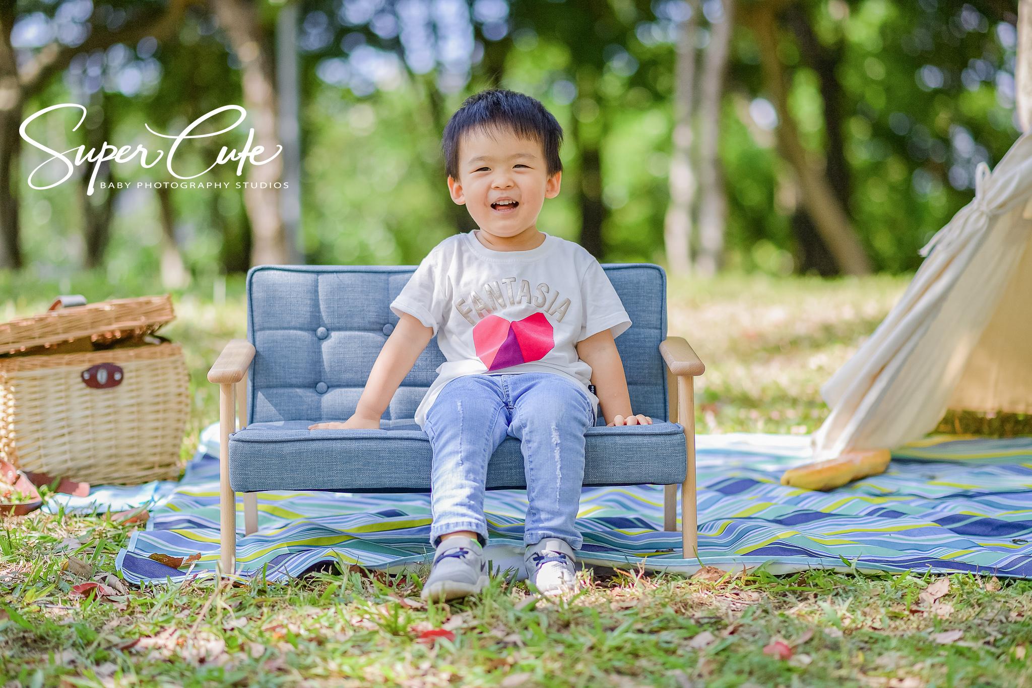 野餐風戶外兒童寫真