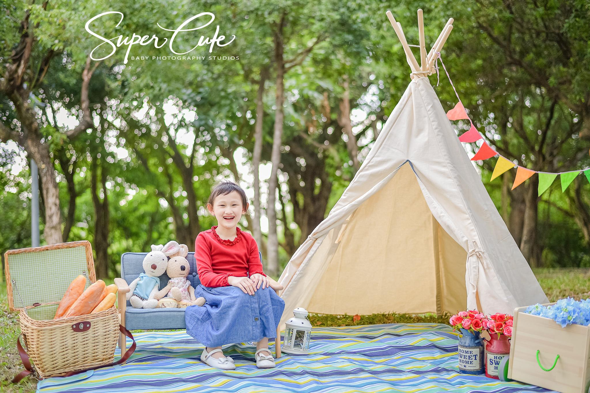 野餐風戶外,兒童寫真